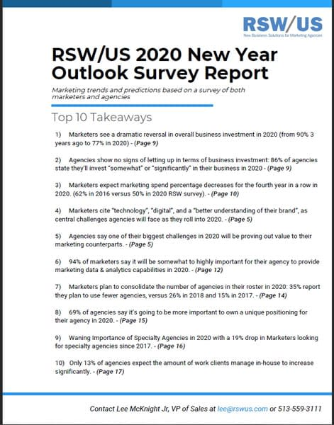 RSW/US 2020 New Year Outlook Survey Report Companion